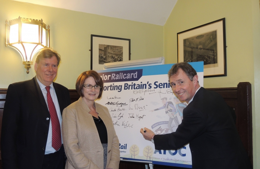 Nigel Evans with Minister and Chair
